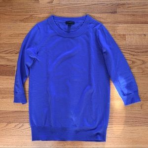 J Crew Periwinkle Blue Merino Tippi Sweater, XS